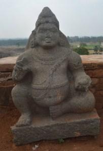 A Kubera sculpture. Several Kubera sculptures were found in Kanakagiri. Photo:K. BHAGYA PRAKASH
