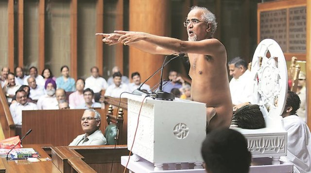 Jain Muni Tarun Sagar Speaking at Haryana Assembly