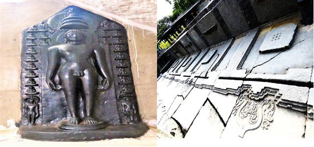 Jain Tirthankar idol and menorials at Hanamkonda