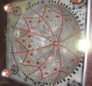 Interiors decoration of Sri Suvarna Parshwanath Swamy Digambar Jain temple at Rajarajeshwarinagar, Bengaluru.