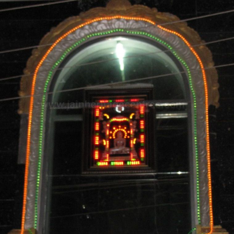 Entrance to Sri Suvarna Parshwanath Swamy Digambar Jain temple at Rajarajeshwarinagar, Bengaluru.