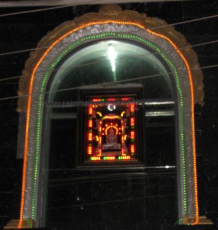 Entrance to Sri Suvarna Parshwanath Swamy Digambar Jain temple at Rajarajeshwarinagar, Bengaluru.