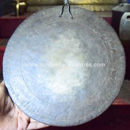 Jagate Gong with inscription.