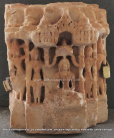 Marble Idol of Jain Tirthankara in padmasana 12th-13th century.