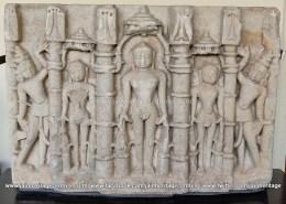Marble Idol of Jain Tirthankaras in Kayotsarga 15th-16th century.