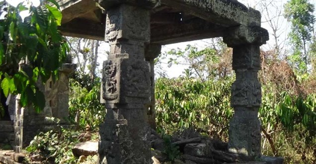 A ruined Mantapa in the temple premises.