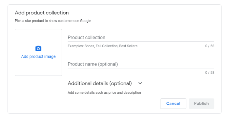 Google My Business Products Feature