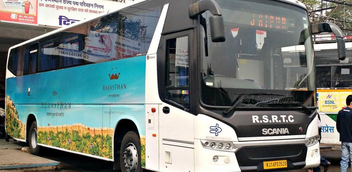 Volvo buses Jaipur and Delhi