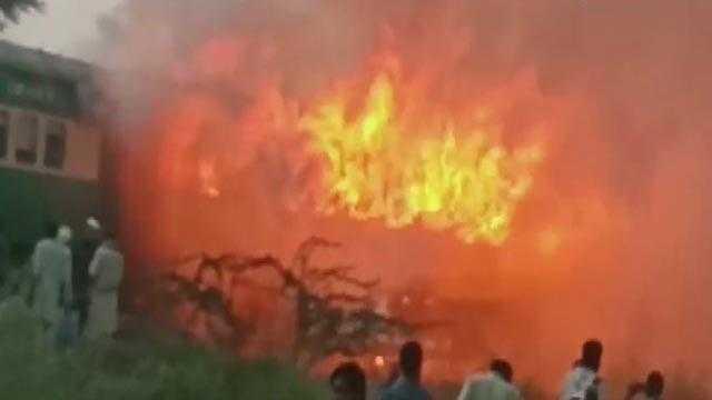 Karachi Rawalpindi Burning Train
