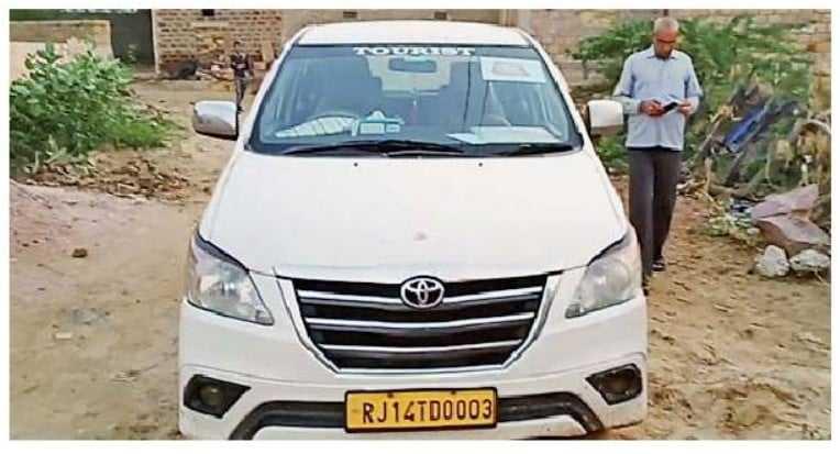 6 Axis My India Surveyer and Innova Car With Fake AAJ Tak Press Logo Arrested By Nachna Police