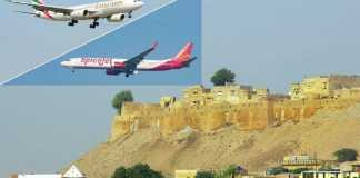 Emirates and Spicejet Flight For Jaisalmer