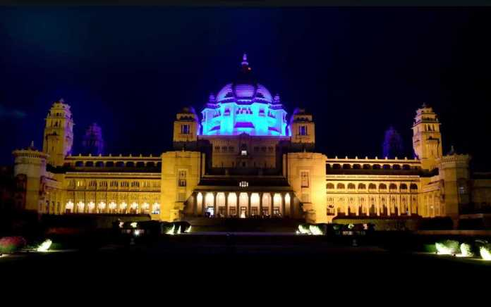 Ummaid Bhavan Palace Blue Light World Diabetes Day