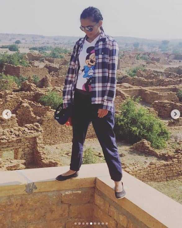 दक्षिण भारतीय Actress सिन्धु लोकनाथ ने किया जैसलमेर का भ्रमण 2