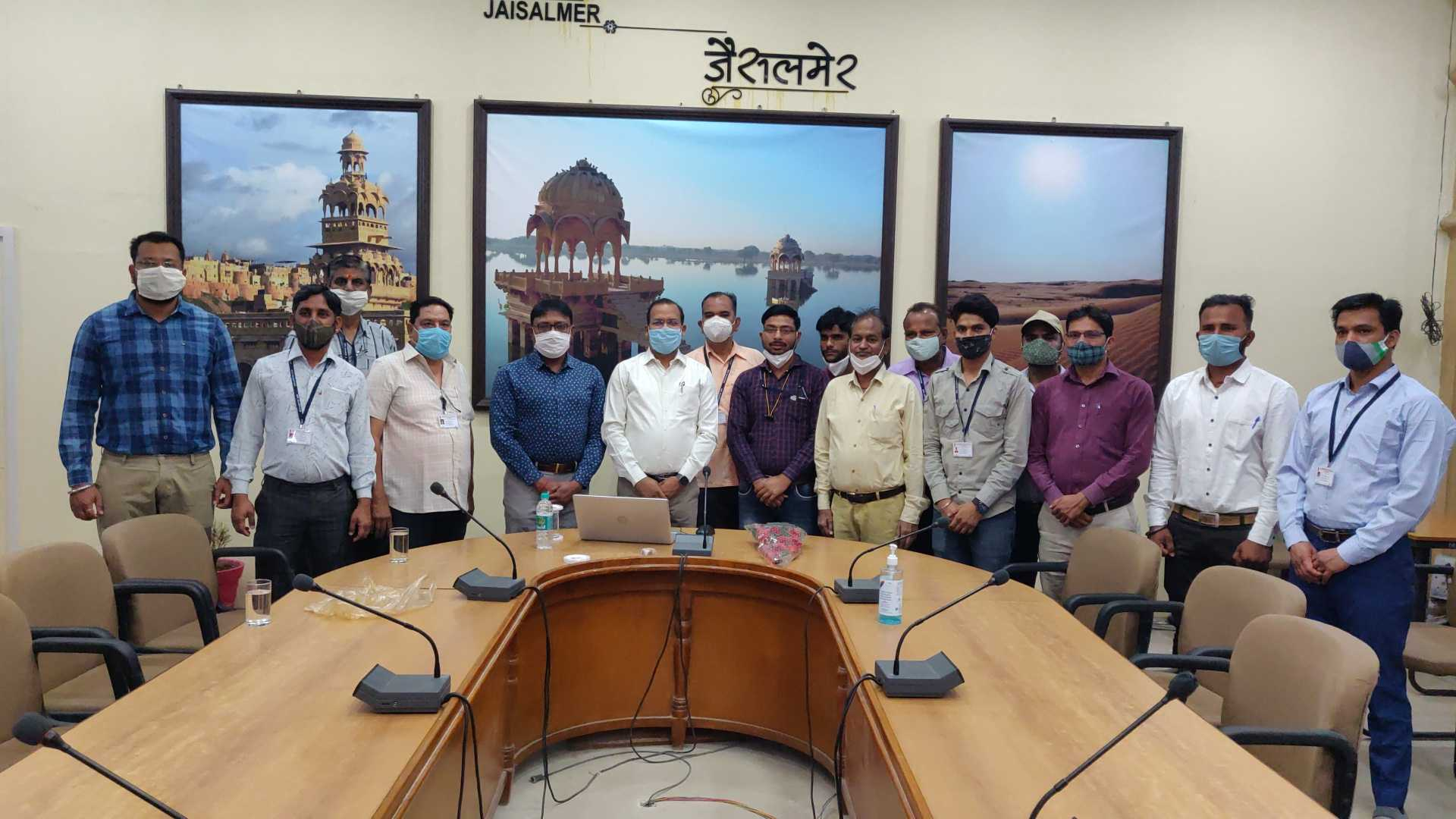 Jaisalmer Collector asish modi group photo