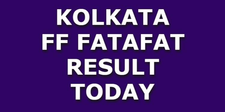 Kolkata FF Today Kolkata Fatafat Result