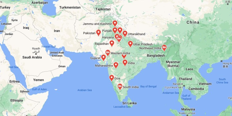 Total States In India Map