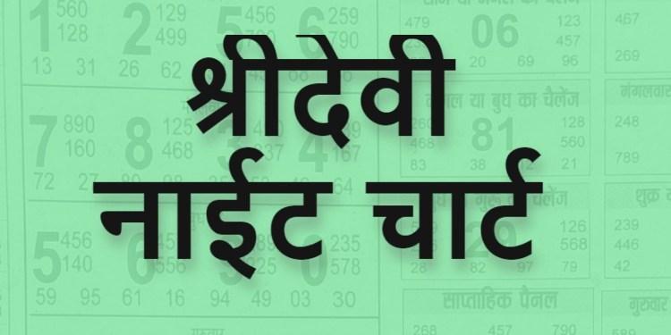 Satta Matka Sridevi Night Chart Result