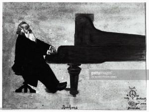 ピアノに向かうBrahms