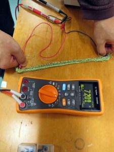 smart textile 実験1号
