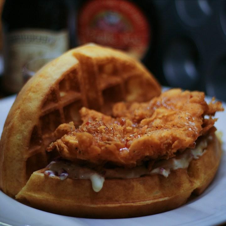 jajanbeken kopi kitchen lippo mall puri chicken waffle