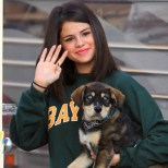 Selena Gomez with her adopted dog Baylor.