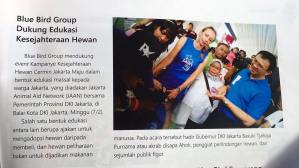 JAAN in BLUEBIRD Magazine! Bluebird has supported many of JAAN programs over the years & we are very greatful for all the support! Bluebird also suppprted our program Kesehjateraan Hewan Cermin Jakarta Maju #KHCJMDKI which is a collaboration between JAAN and DKI Jakarta. Thank you BLUEBIRD for your continuous support!