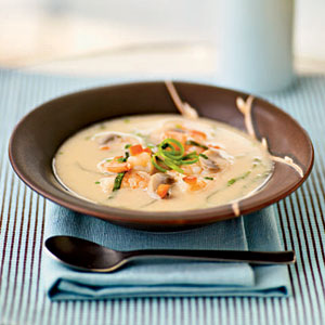 Spicy Coconut Shrimp Soup