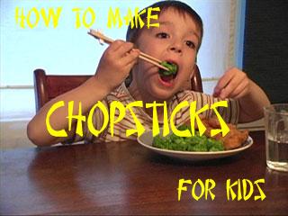 how to make chopsticks for kids