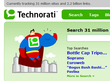 Technorati Top Searches 2006 March 20