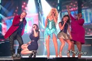 Team Christina Lady Marmalade The Voice Christina Aguilera Frenchie Davis Beverle