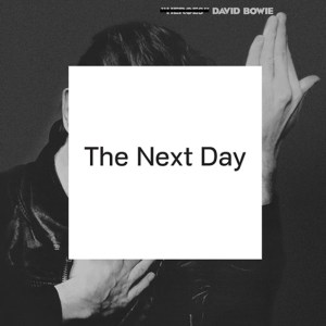 "David Bowie's ""The Next Day"" showcases some of his best material of the 2000s in his first album in 10 years. (Album cover property of ISO Records and Columbia Records)"