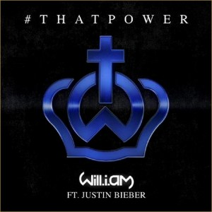 """""""#thatPower"""" is the first collaboration between """"The Voice UK"""" judge and the teen idol.  (Album cover property of Interscope Records)"""