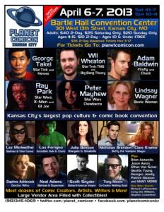 Planet Comicon 2013 Flier