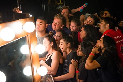 """The """"AGT: Season Nine"""" quarterfinalists took a break from rehearsals to take a group selfie. (Photo property of NBC)"""