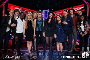 The Voice: Season Seven Top 12 pose