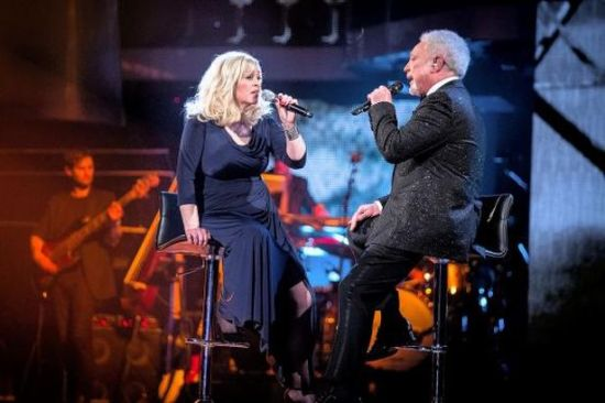"""Sally Barker & Sir Tom Jones' duet of """"Walking In Memphis"""" was one of the highlights of """"The Voice UK: Season Three."""" (Photo property of BBC)"""