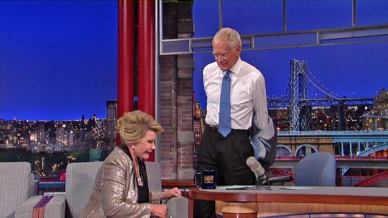 David Letterman and Joan Rivers
