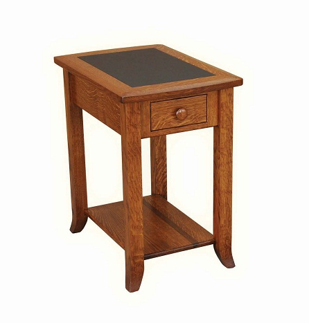 Jakes Amish Furniture 251 SH Chairside Table With