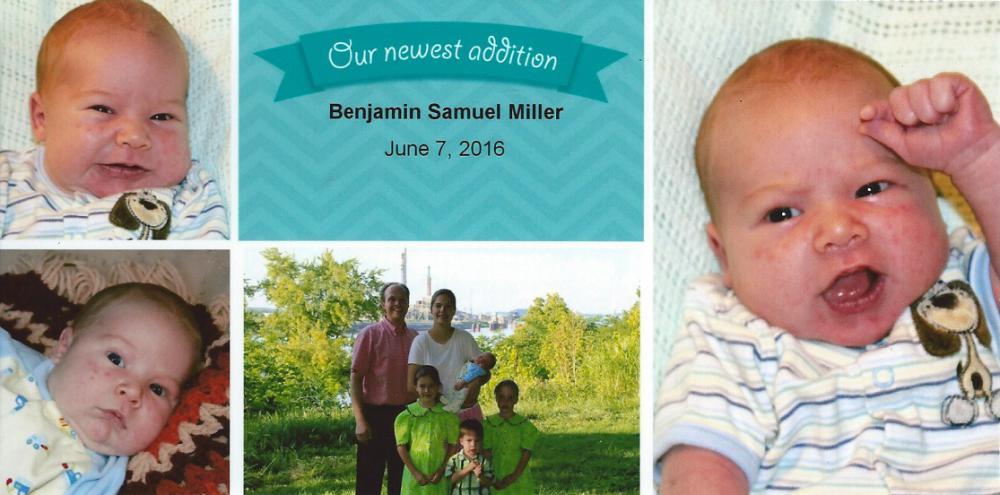 Jakes Amish Furniture Bennys Birth Announcment