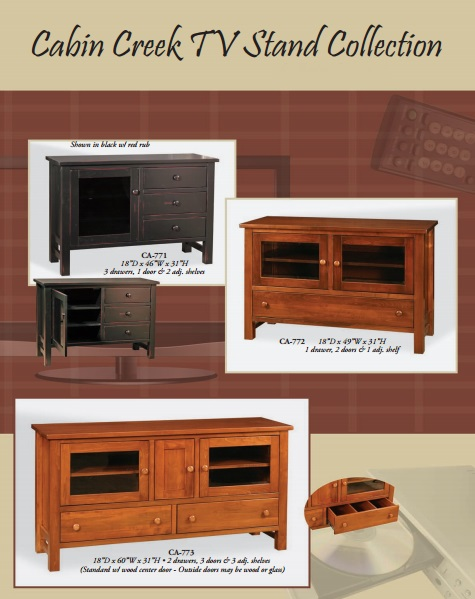 Jakes Amish Furniture Cabin Creek TV Stand Collection