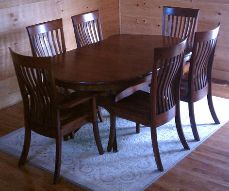 Jakes Amish Furniture Oval Galveston Table With Christy