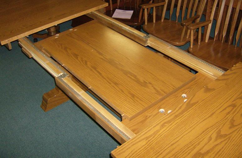 Jakes Amish Furniture Self Storing Leaves In Extra