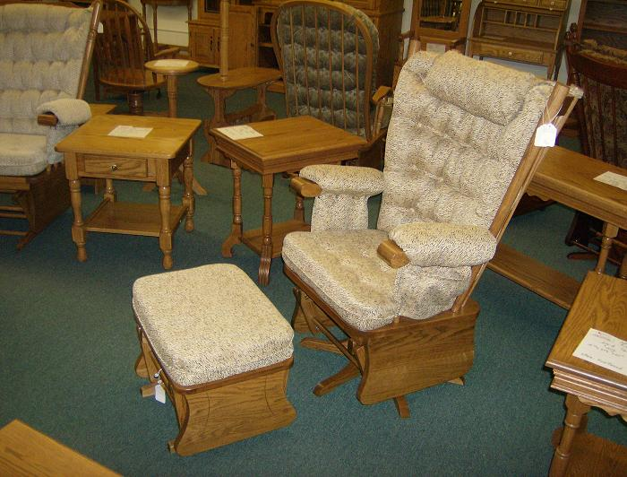Jakes Amish Furniture Shaker Style Wing Back Glider