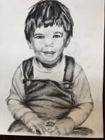 Pencil and charcoal drawing, Matt, January 2018