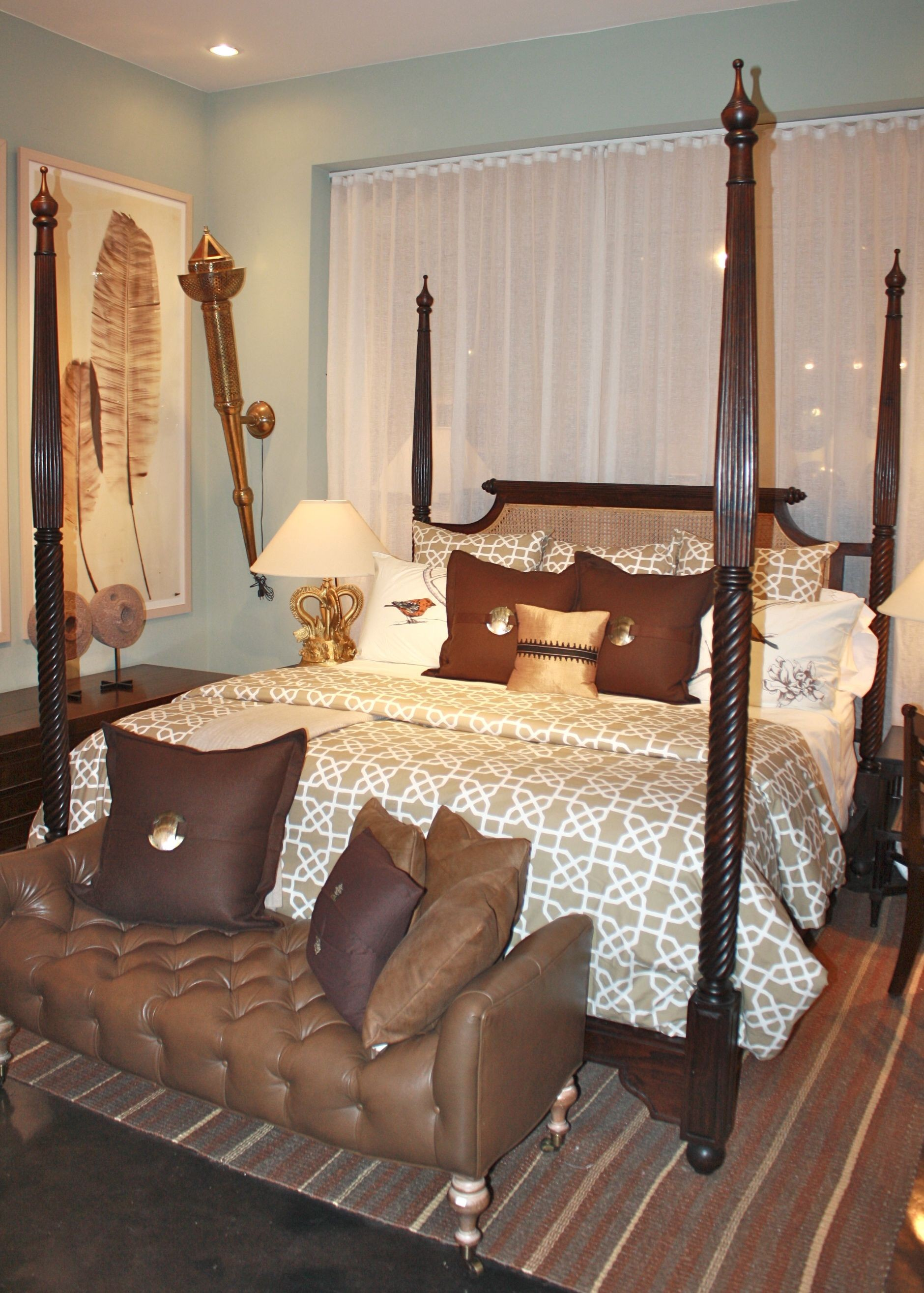 British Colonial 4 Poster Bed King Size Indian Bed