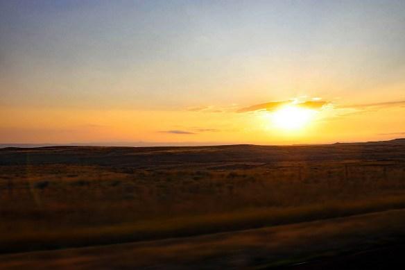 Traveling (hurring) west down US Hwy 18... towards Mule Junction.