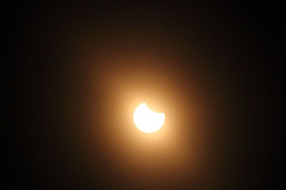 The Eclipse gets more visible...