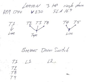 Hot Rods  OT Lathe helpBremas drum switch to a Leeson