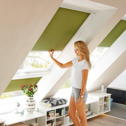 velux dachfenster rollos perfekter