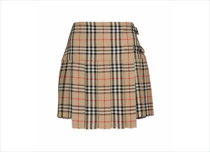 تنورة بربري ميني تنورة ميني تنورة فستان خريف 2021